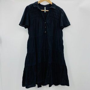Anthropologie Tiered Layered Boho Babydoll Dress M